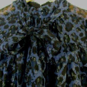 kate spade Dresses - Kate Spade Leopard Print Clip Dot Mini Dress Med